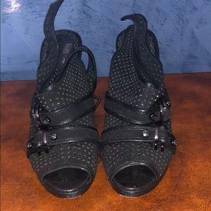 Juicy Couture Black Suede Samantha heels